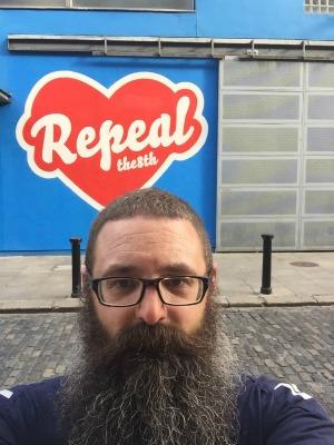 Repeal mural selfie